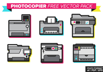 Photocopier Free Vector Pack - бесплатный vector #368359