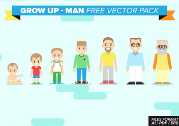 Grow Up Man Free Vector Pack - vector gratuit #368429