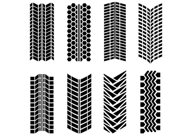 Tire Marks Vector Pack - vector gratuit #368469
