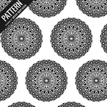 Tribal mandala pattern - Free vector #368499
