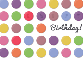Smarties Birthday - vector gratuit #368649