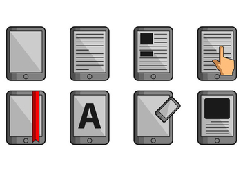 E-Reader Icon - vector gratuit #368659