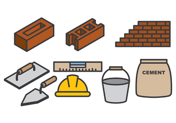 Free Bricklayer Vector - vector gratuit #368669