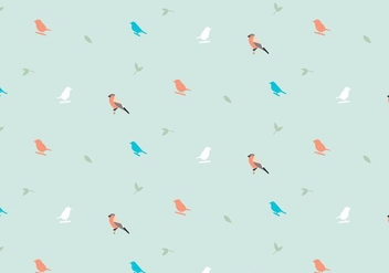 Birds Pastel Pattern - vector gratuit #368729