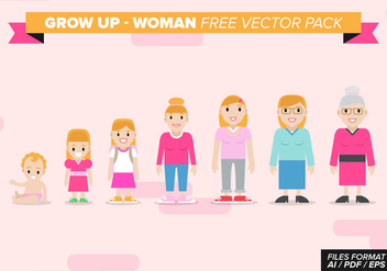Grow Up Woman Free Vector Pack - Free vector #368739