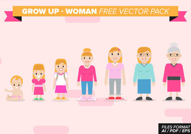 Grow Up Woman Free Vector Pack - vector gratuit #368739