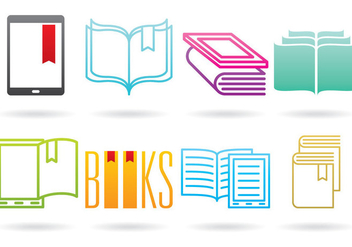 Books And E Reader Logos - vector gratuit #368749