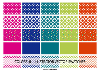 Assorted Illustrator Color and Pattern Swatches - Free vector #368849