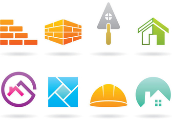 Bricklayer Logos - бесплатный vector #368869