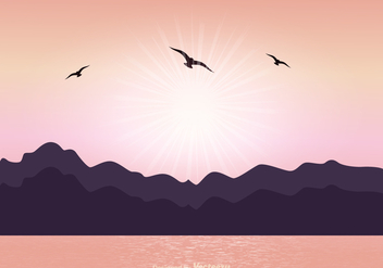 Peaceful Landscape Vector Scene - бесплатный vector #368899
