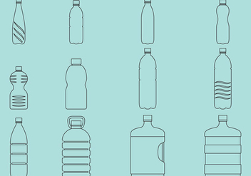 Water Bottles Icons - vector gratuit #368919