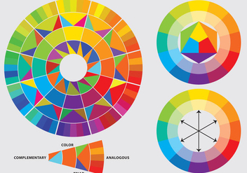 Color Wheels - vector gratuit #368949
