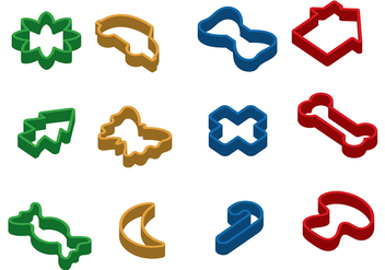 Free Cookie Cutter Vector - vector #368959 gratis