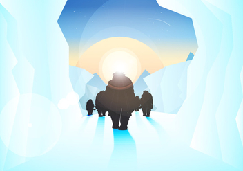 Ice Age Illustration Vector - бесплатный vector #369049