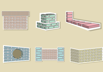 Brick Layer Illustration Vector - Free vector #369059