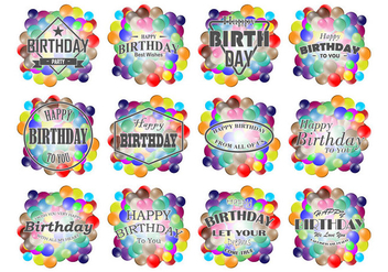 Smarties Birthday Labels Vector - Free vector #369069