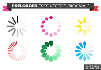Preloader Free Vector Pack Vol. 3 - vector #369099 gratis