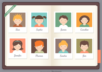 Free Yearbook Vector - vector gratuit #369359