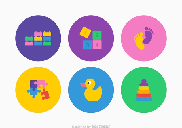 Free Kids Stuff Vector Icons - vector #369369 gratis
