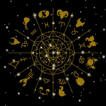 Zodiac signs circle illustration - vector gratuit #369479
