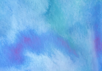 Blue Watercolor Free Vector Background - vector gratuit #369539