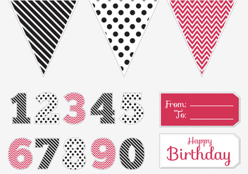 Birthday Pintable Pack - vector gratuit #369619
