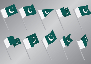 Free Pakistan Flag Icons Vector - бесплатный vector #369629