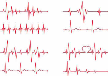 Heart Monitor Vector Set - vector gratuit #369739