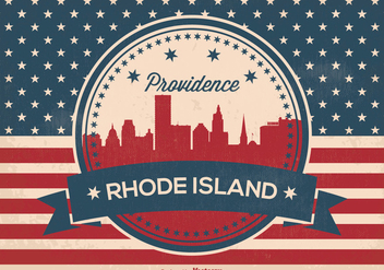 Providence Rhode Island Retro Illustration - бесплатный vector #369839