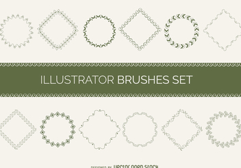 Illustrated frames set - vector gratuit #369859
