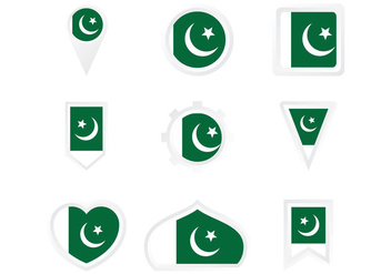 Pakistan Flag Model - vector gratuit #369929