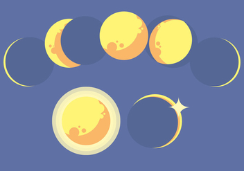 Moon Phase Vector Set - Kostenloses vector #369969