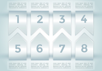 Bullet Points Infographics Elements Vector 2 - Kostenloses vector #370019