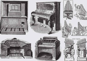 Ancient Pipe Organs - vector gratuit #370119