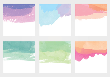 Vector Watercolor Elements - бесплатный vector #370139