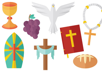 Free Eucharist Icons Vector - бесплатный vector #370329