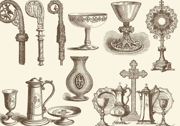 Eucharist And Liturgical Items - vector gratuit #370339