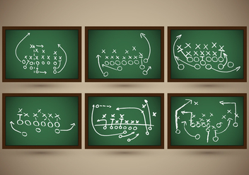 Playbook Football Slate Strategy Vector - бесплатный vector #370419