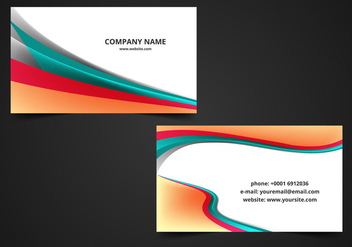 Free Vector Wave Visiting Card Background - Free vector #370469
