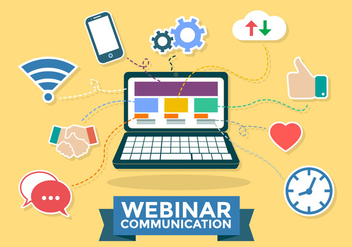 Webinar Communication Infographic Vector - бесплатный vector #370489