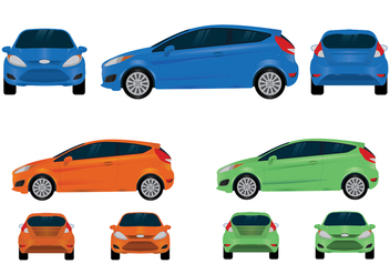 Ford Fiesta Vector Views - бесплатный vector #370499