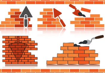 Stok Vector Bricklayer - Free vector #370509
