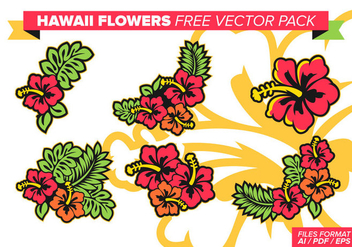 Hawaii Flowers Free Vector Pack - бесплатный vector #370539
