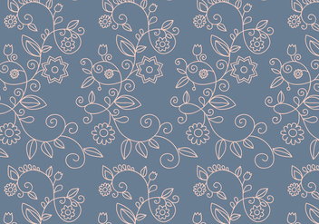 Floral Outline Pattern - vector gratuit #370549