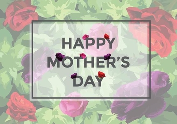 Free Mother's Day Roses Vector - Free vector #370619