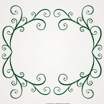 Nature swirl frame - Free vector #370669