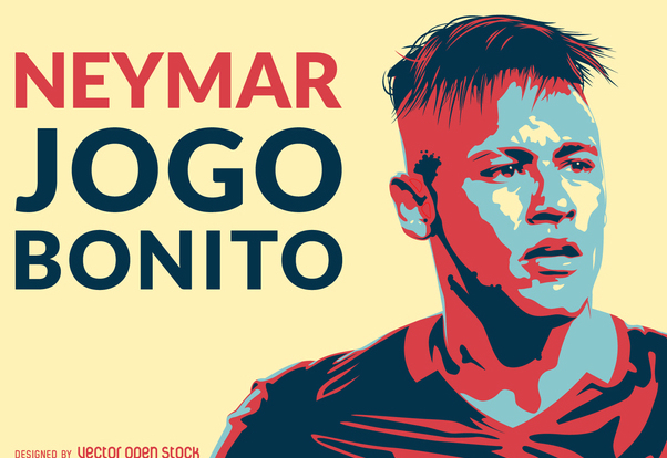 Neymar jogo bonito illustration - Free vector #370679