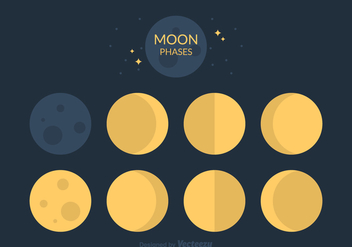 Free Moon Phases Vector - Free vector #370759