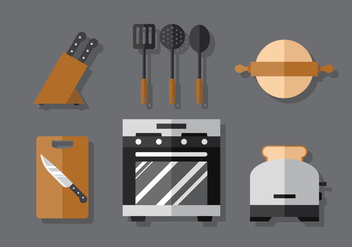 Vector Cooking Set - vector #370799 gratis