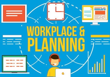 Free Workplace and Planning Vetor - Kostenloses vector #370839